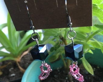 Portal Companion Cube Earrings - Aperture Science Chell Portal 2