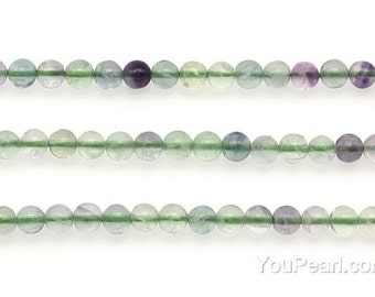 Rainbow fluorite beads, 4mm round, multicolor natural fluorite beads, A grads gemstone loose beads supplies for jewelry making, FLR2010