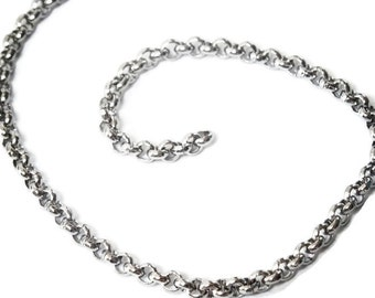 1mt x 304 stainless steel 2mm rolo chain | loose rolo chain| deluxe range | price per metre | loose stainless rolo chain
