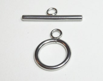 Stainless steel toggle clasp |  stainless metal stamping blank