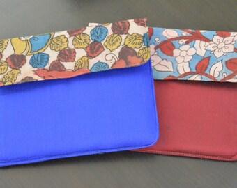 Handmade Kalamkari print Ipad Case, Tablet Case, Kindle case, Ipad cover, Ipad Sleeve, Tablet Sleeve