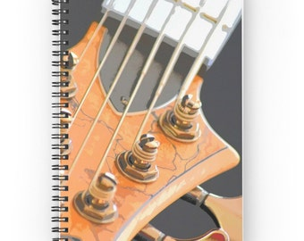 Guitar Notebook ~ Blank Music Journal ~ Graduation Gift for Guitarist ~ Jazz Spiral Notebook ~ Gift for Musician ~ Instrument Photography