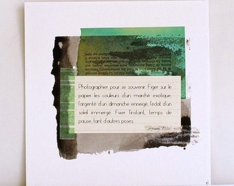 Photograph - Unique work - Collages and inks - 19 * 19cm