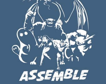 Herculoids Assemble -  Men's Unisex T-Shirt - Movie Mashup Parody Clothing