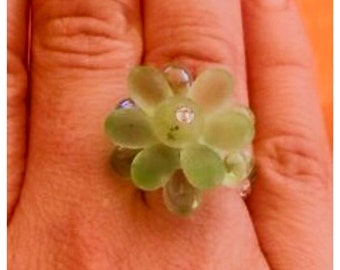 ring drop green water