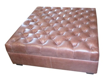 All Leather Ottoman