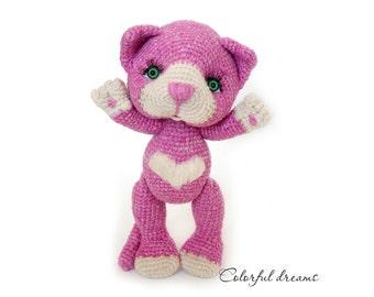 """Crochet pattern """"Pink kitten"""""""