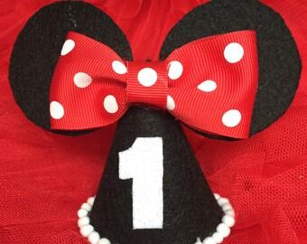Minnie Mouse / Minnie mini hat / birthday hat / birthday / Mini party hat