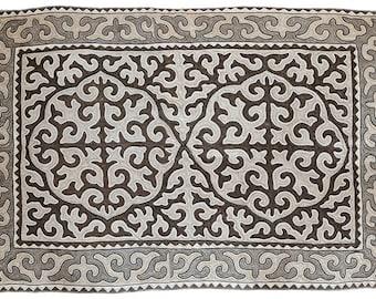 large area rug handwoven rug grey rug area rug 200x300cm