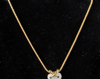 Swarovski Heart Pendant & Chain