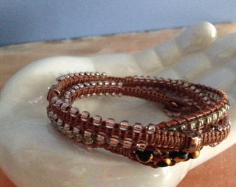 Copper tones Wrap bracelet