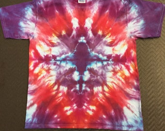 Jewel tone tie dye - Youth Large