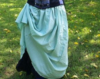 Mint green renaissance skirt.