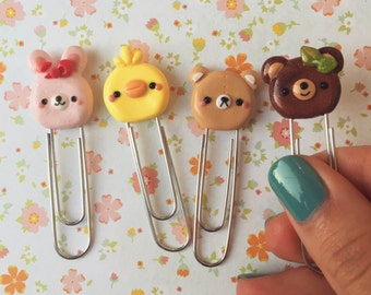 Kawaii Forest Animal Paperclip