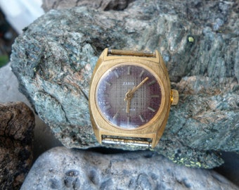 Soviet watch Zaria, retro watch, Russian watch, Vintage watch, Zaria watch, mechanical watch, gold plated watch, Soviet watch