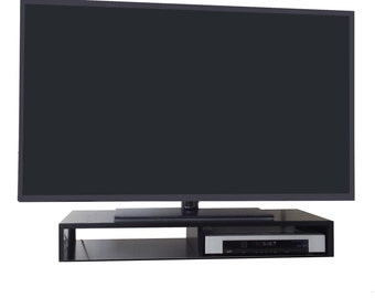 Tabletop TV Stand for Flat Screen (Black)   RIZERvue