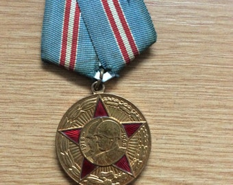Russian/Soviet 50 Years Armed Forces Medal