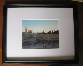 Sunset Over the Western Wall (Framed)