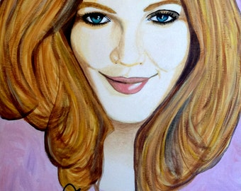 Drew Barrymore autographed giclee