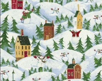 Let it Snow Village Fabric  - Windham Fabrics