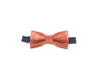 Leather Bow Tie LIGHT BROWN