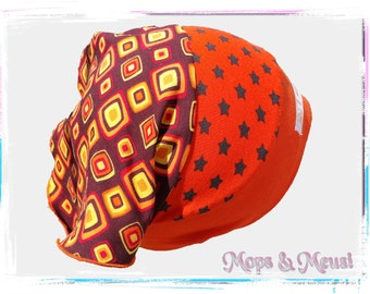 Headscarf desire size orange yellow star retro