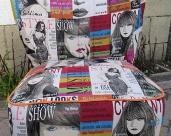 Trendy, hip, hot seat, fun bright colors!