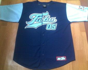 FUBU t-shirt, vintage jersey of 90s hip-hop clothing, buttoned sewn, 1990s hip hop, OG, gangsta rap, size L