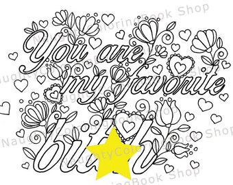 Bitch colouring page etsy Naughty coloring books for adults