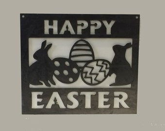 Happy Easter Metal Wall or Garden Sign