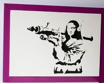 Mona Lisa with rocket launchers