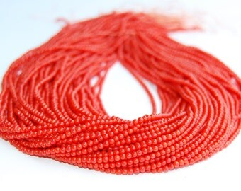 Smooth Round Red Bamboo Coral Loose Beads 15.5'' Long Per Strand Size 2mm.R-S-COR-0355