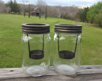 Mason Jar Votive Candle Holders, Mason Jar Candle Holder, Tea Light Holder