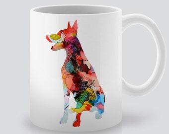 Doberman Pinscher Mug -  Tea Cup -  Coffee Cup - Printed Mug - Colorful Dog Mug - Gift for Him - Gift for Her