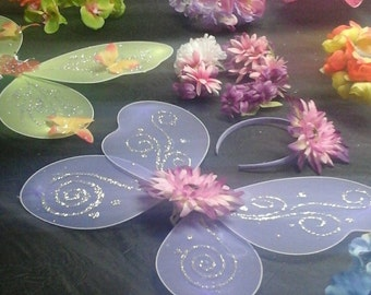 Fairy/Pixie party theme wings and head dresses
