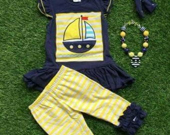 Sailboat Capri set ~ 4T