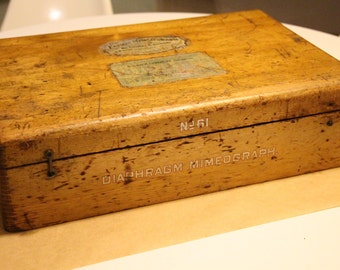 Thomas Edison Original Mimeograph Wooden Box