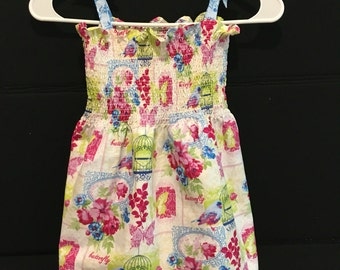 Blue Birdcage Double Layer Dress 3T