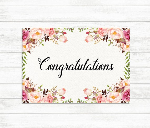 Lively image for congratulations cards printable