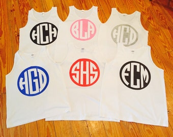 Monogrammed Swimsuit Cover Up/Tank top