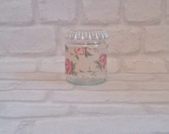 Rose hessian tealight