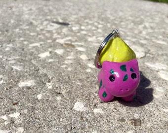 Polymer Clay Bulbasaur keychain