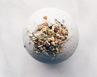 Citrus Grove Bath Bomb: Natural Bath Bomb-Aromatherapy-French Green Clay-Chamomile