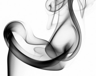6x8 Abstract smoke art print (mounted)