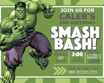 DIGITAL* Incredible Hulk Birthday Invitation