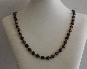 Turitella Agate With Textured Silver Beads