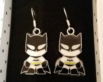 Batman Superhero Earrings