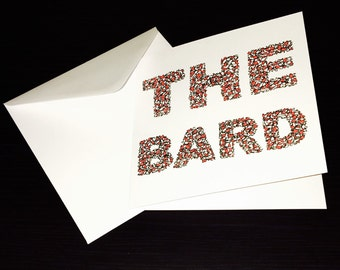 THE BARD Fathers Day Greeting Card