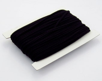 5, 10, 50, 100 meters of cotton cord 4 mm black