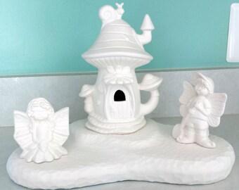 Fairy House with Garden Fairys